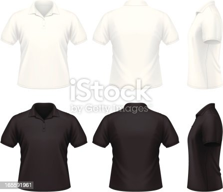 Vector illustration of classic men's polo.