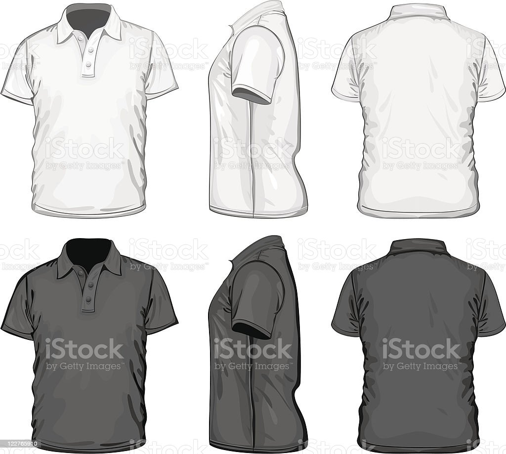 Men's polo-shirt design template royalty-free mens poloshirt design template stock vector art & more images of adult