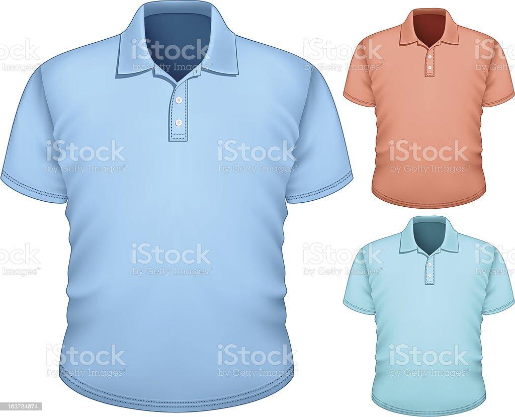 Men's polo-shirt design template royalty-free stock vector art