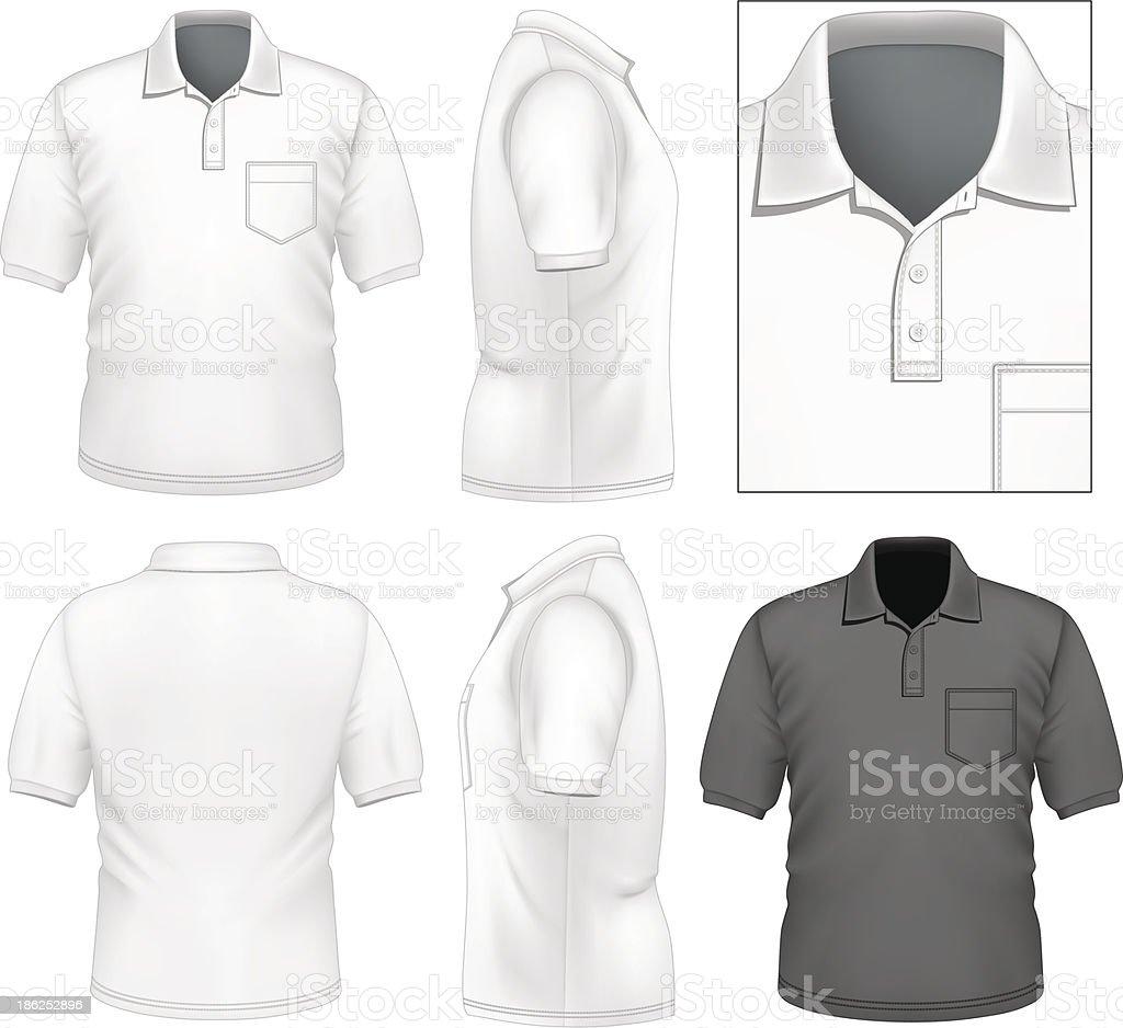 Men's polo-shirt design template vector art illustration
