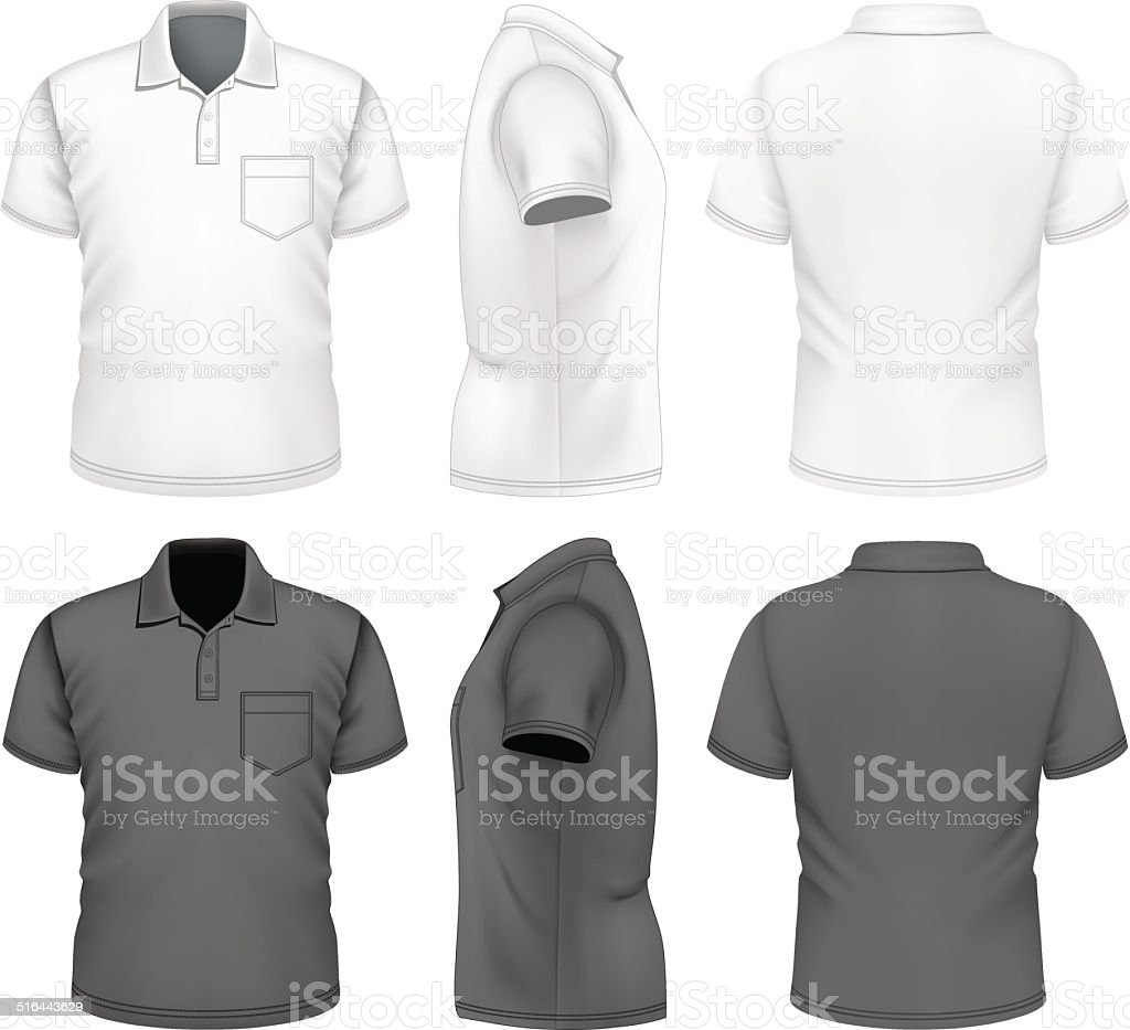 Men's polo-shirt design template vector art illustration