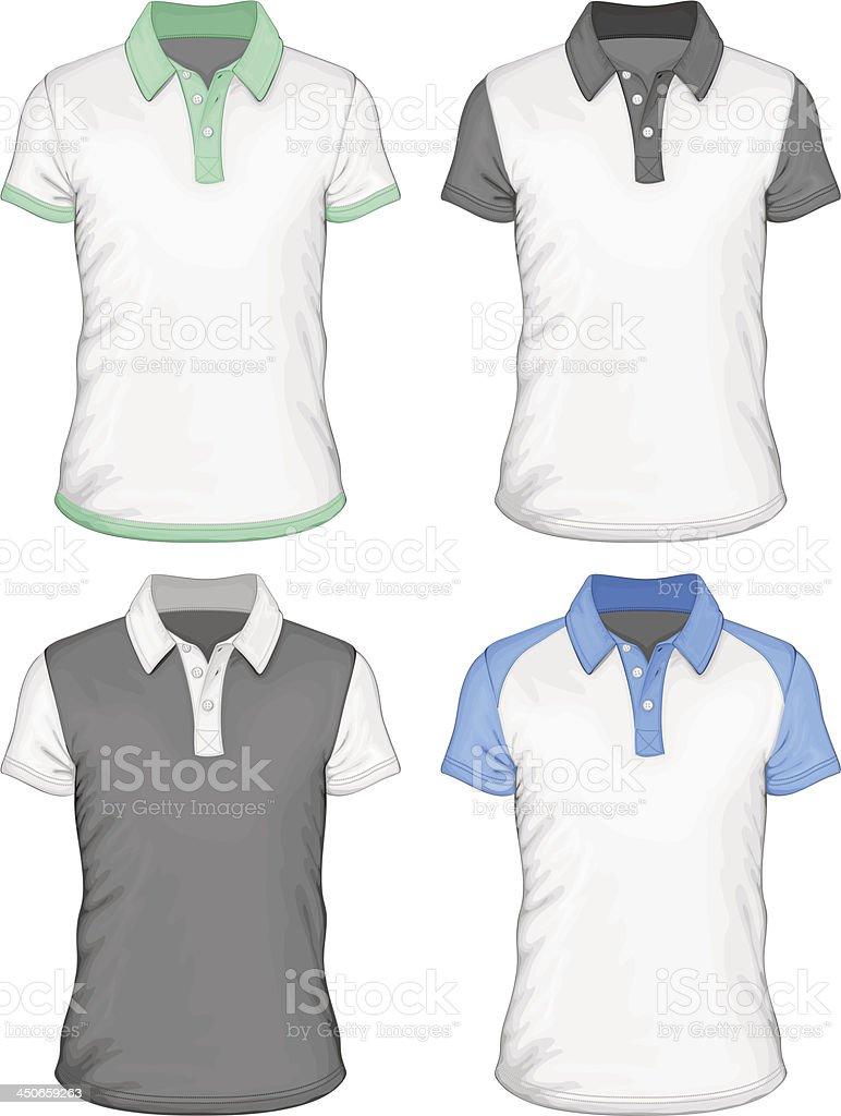 Men's  polo-shirt design templates vector art illustration