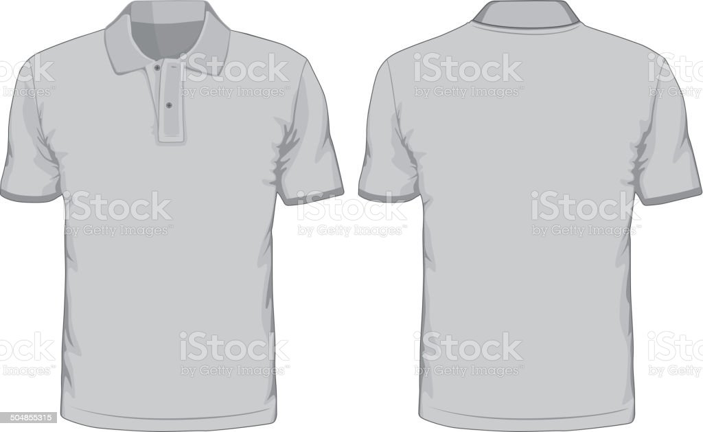 Men's polo-shirts template. vector art illustration