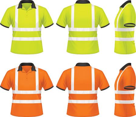 Men's safety polo shirt