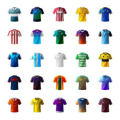 Men's shirt and football uniform