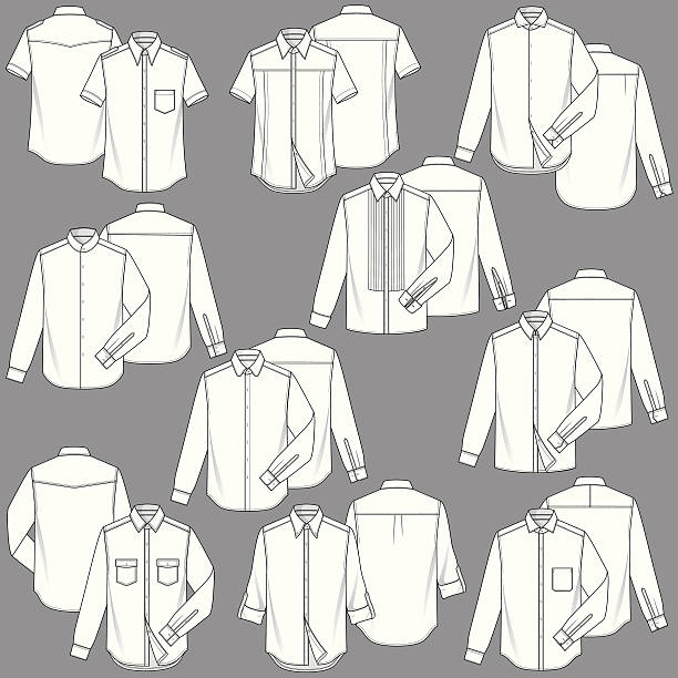 mens shirt fashion templates - mens fashion stock illustrations, clip art, cartoons, & icons
