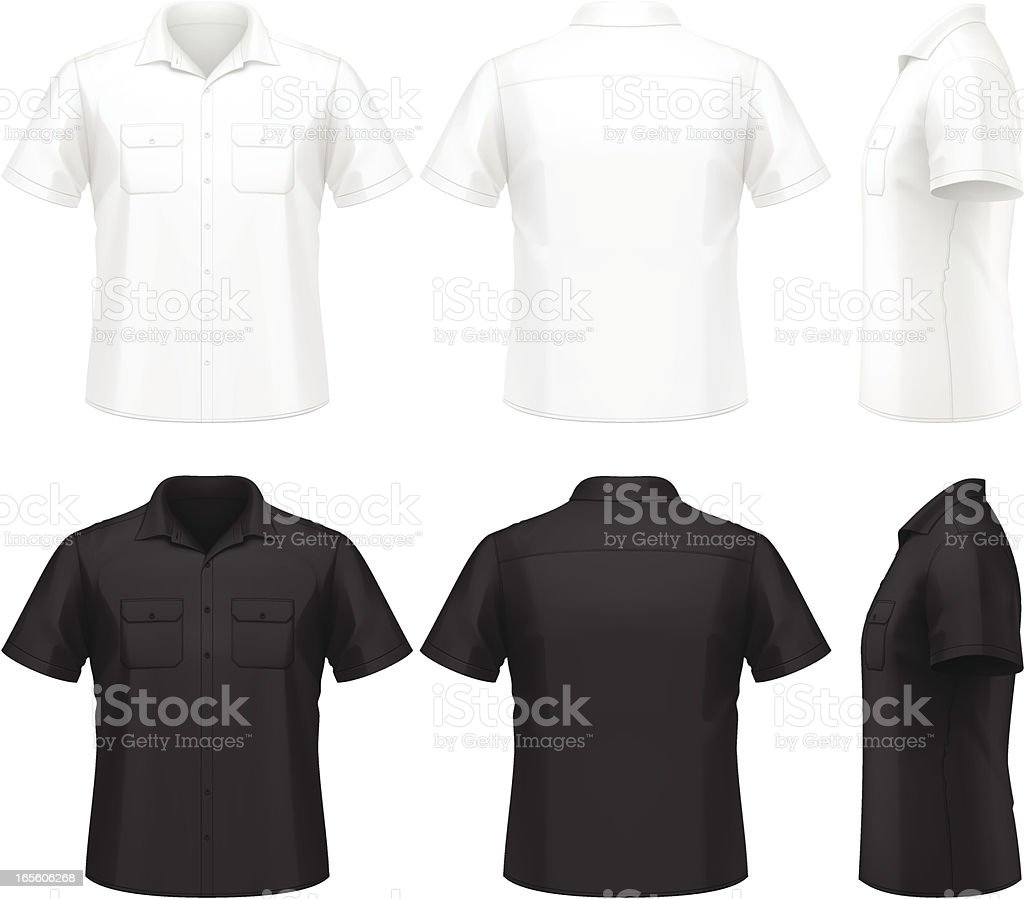 Men's shirt vector art illustration