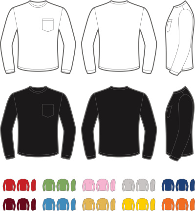Men's shirt with long sleeve
