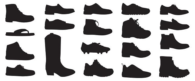 Mens Shoe Silhouettes