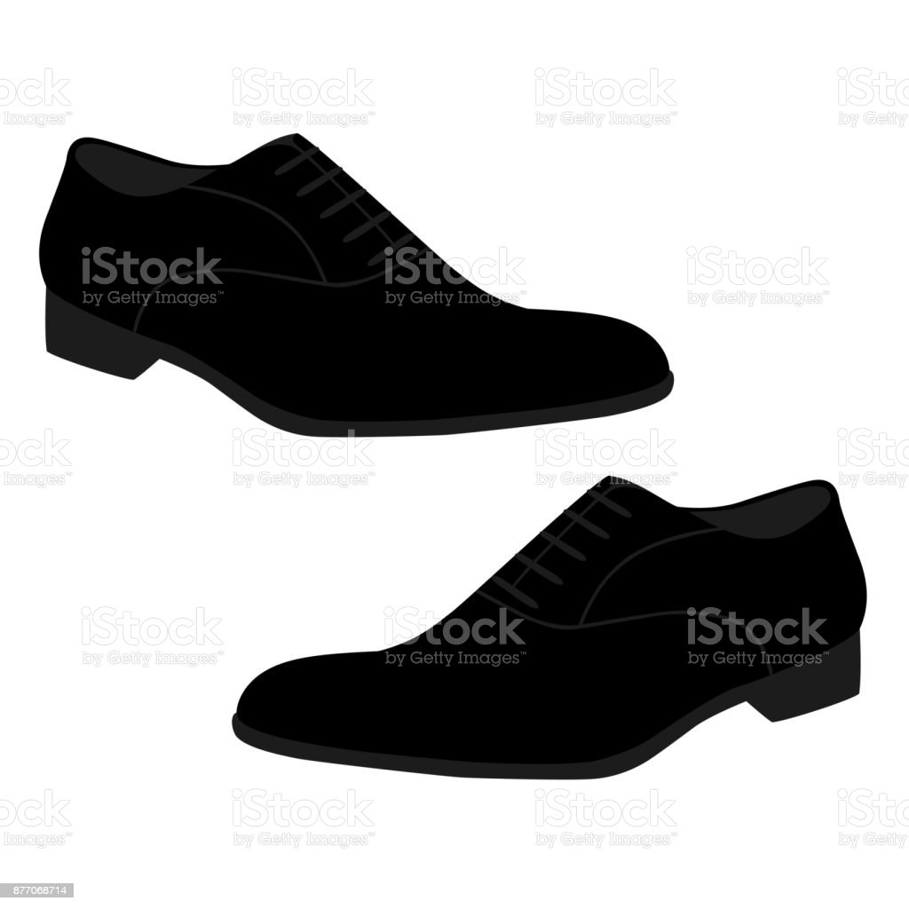 Men's shoes isolated on white background.