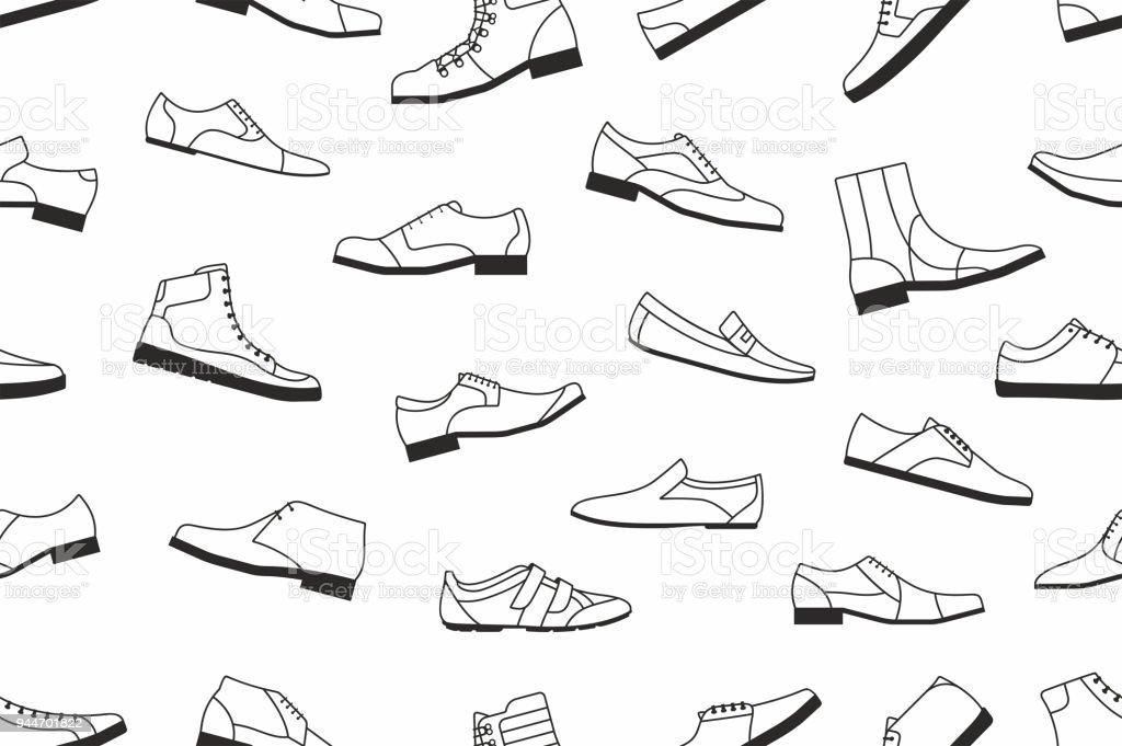 Ilustración de Zapatos De Patrones Sin Fisuras De Los Hombres y más ...