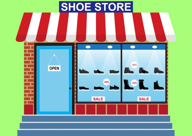 Best Shoe Store Illustrations, Royalty-Free Vector ...
