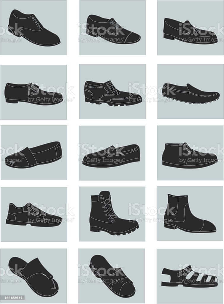 Men's shoes royalty-free stock vector art
