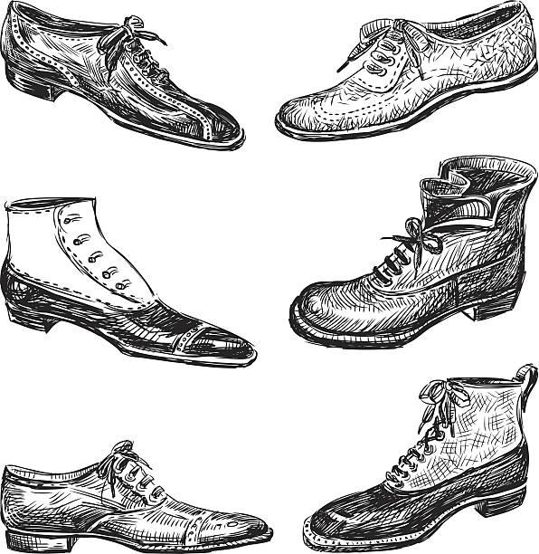 schuhe für herren - eleganter schuh stock-grafiken, -clipart, -cartoons und -symbole