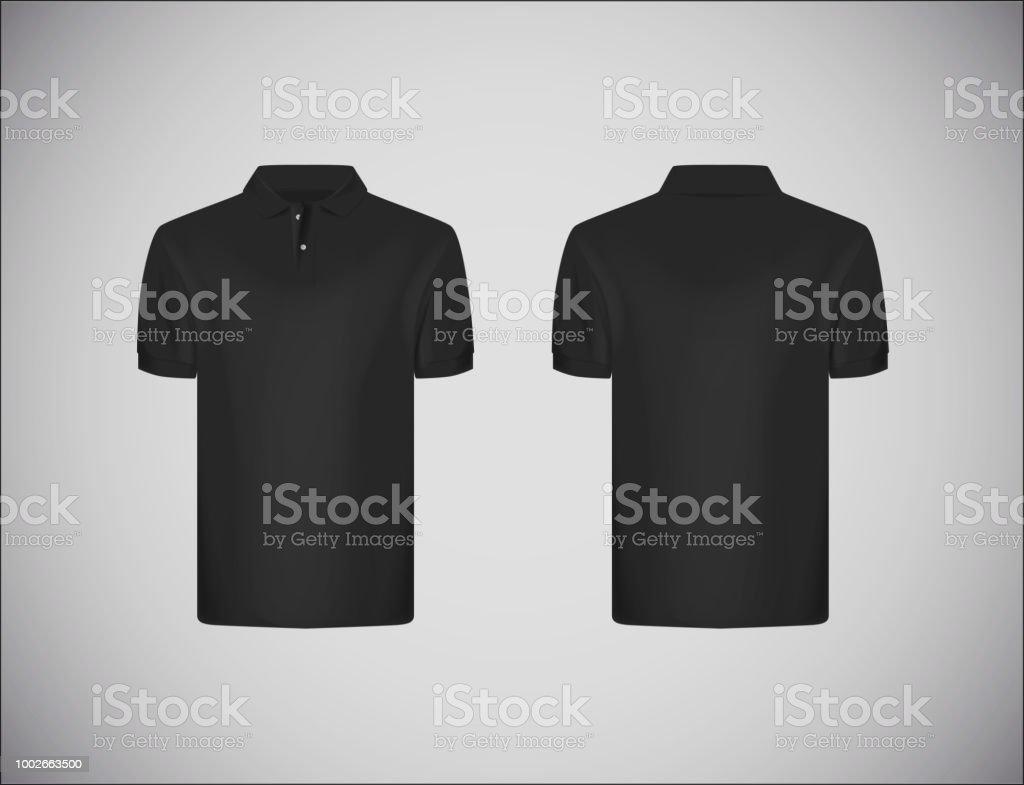 Bestseller einkaufen Turnschuhe für billige Neuankömmling Schmal Geschnittene Kurzarm Polohemd Schwarzes Poloshirt Mockup  Designvorlage Für Das Branding Stock Vektor Art und mehr Bilder von Design