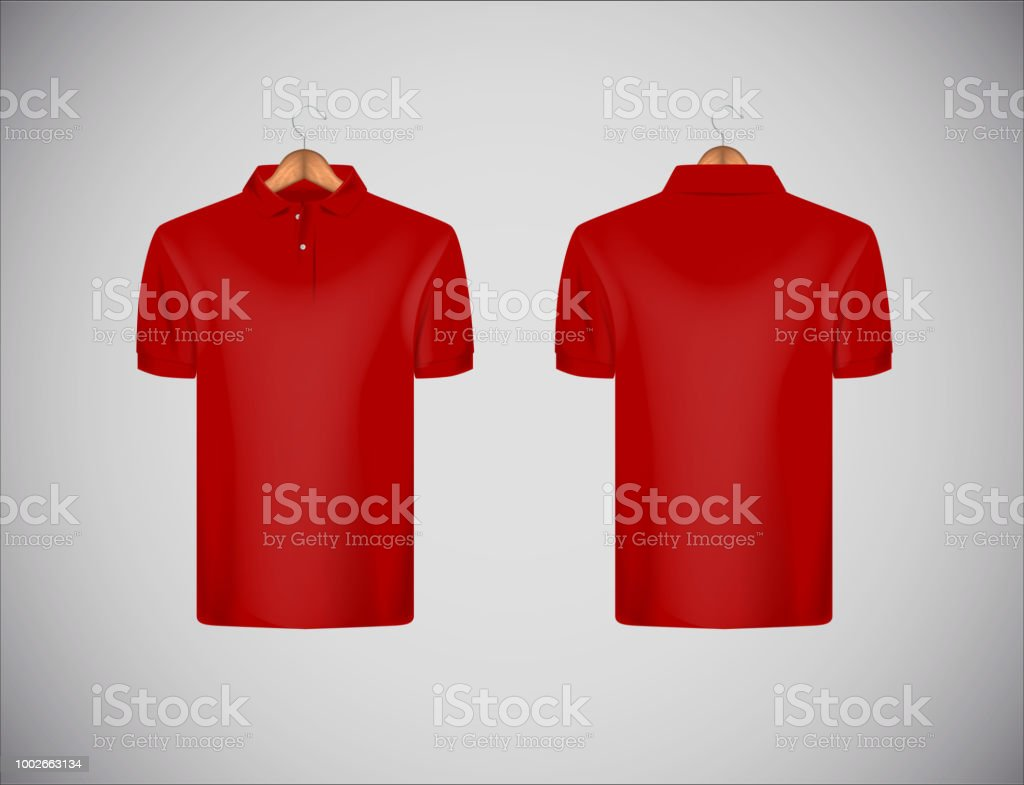 royalty free red polo shirt clip art vector images