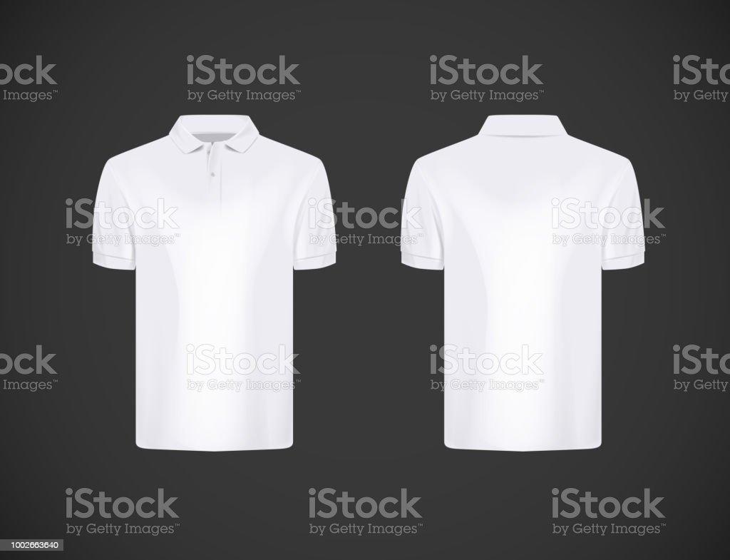 Mens Slimfitting Short Sleeve Polo Shirt White Polo Shirt Mockup
