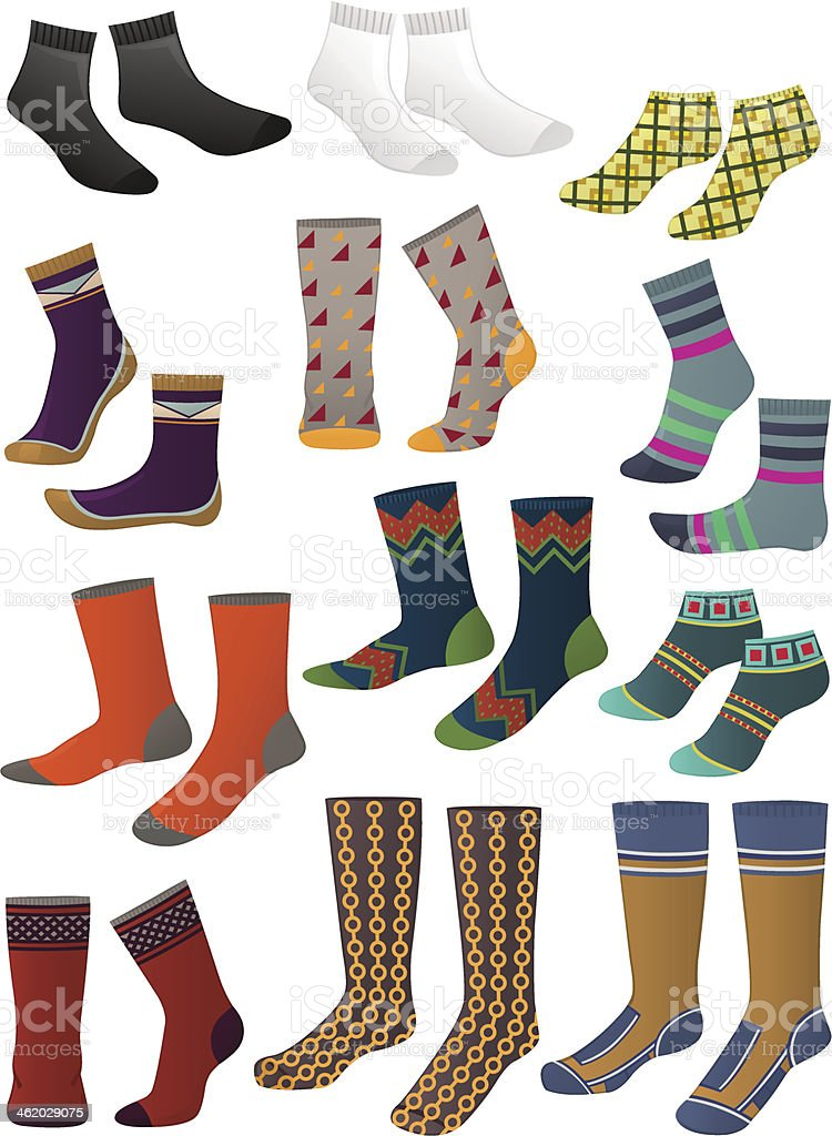 Men's socks vector art illustration