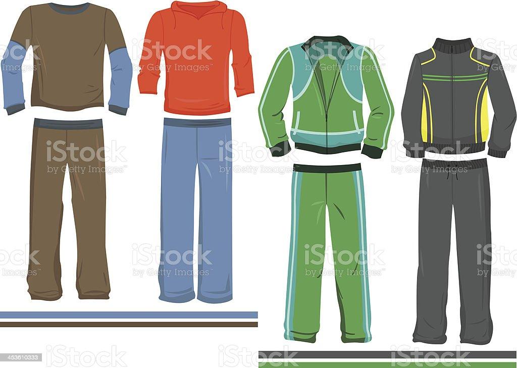 Men's sportswear royalty-free stock vector art