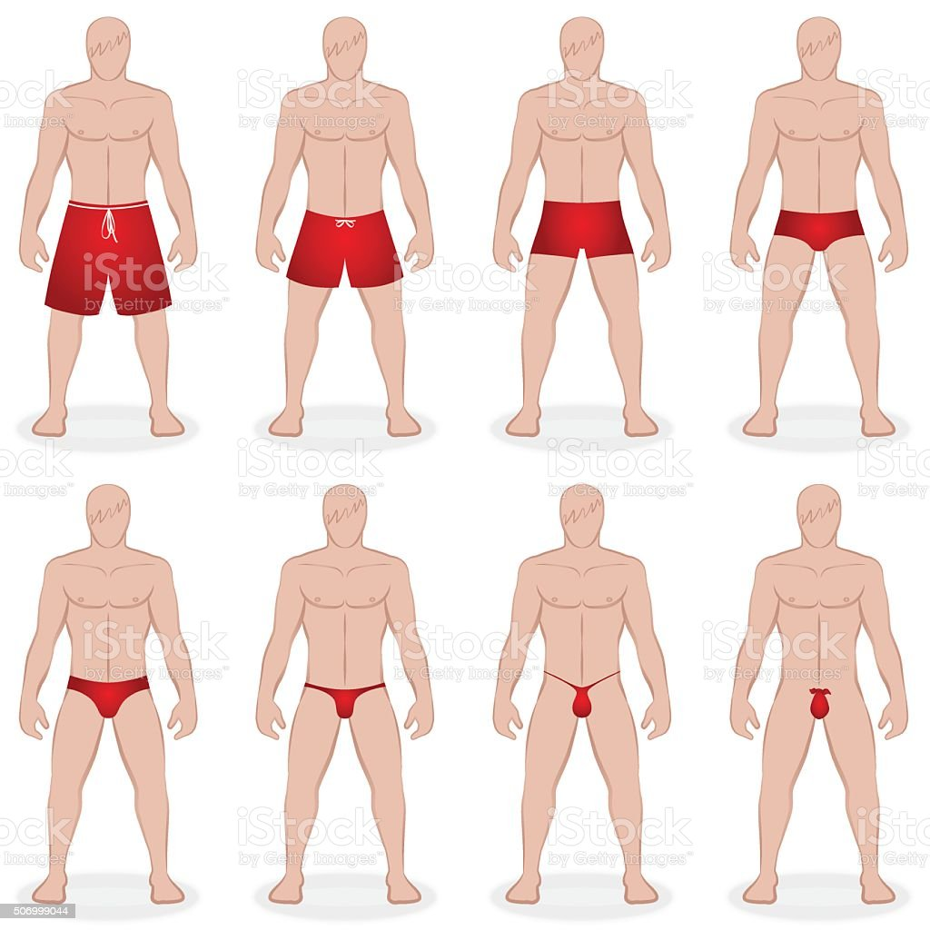 Herrenbademode-Styles – Vektorgrafik