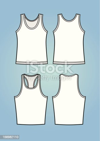 Set of normal+sport tanktops. Front and back. Comes with high resolution .jpg, .png and AI2 version