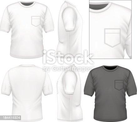 istock Men's t-shirt design template 184415324