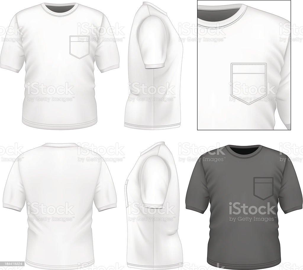 Men's t-shirt design template vector art illustration