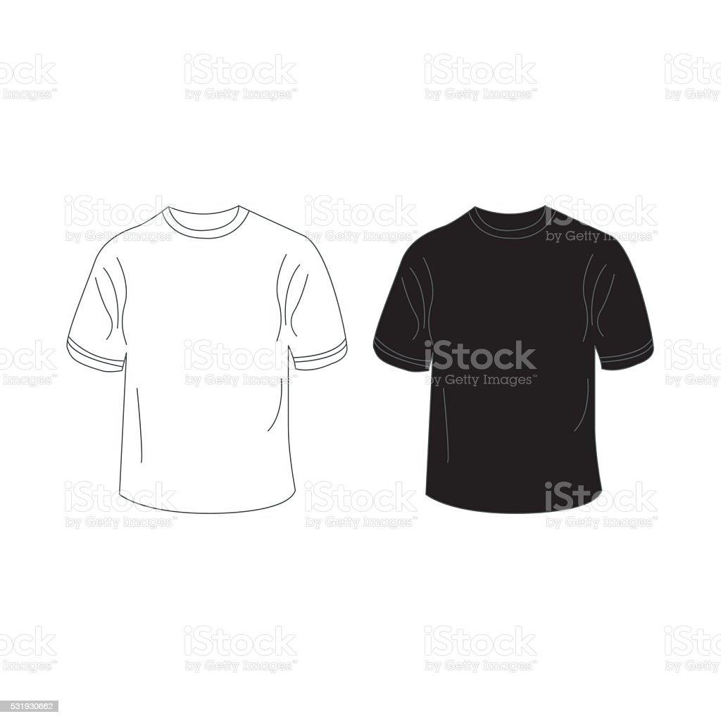 Mens Tshirt Design Template Stock Vector Art More Images Of - Tee shirt design template