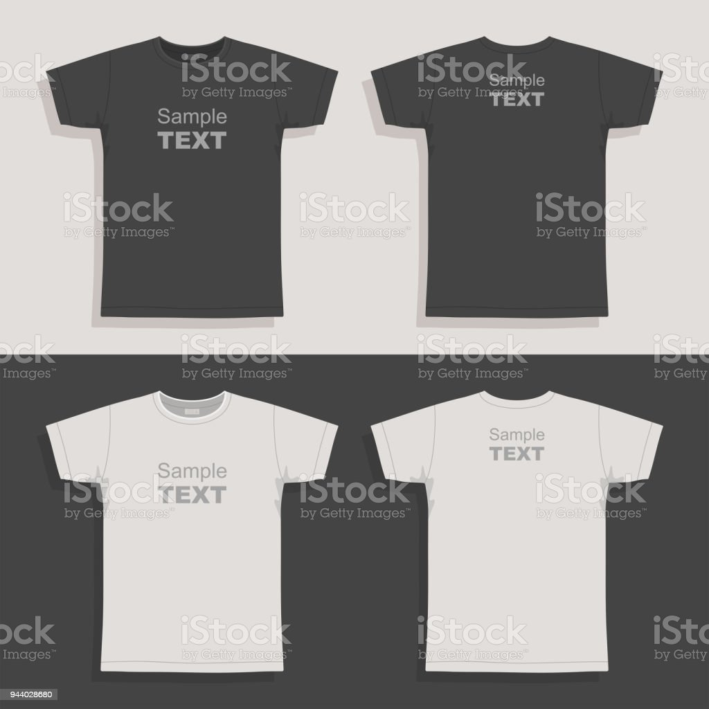 Men's t-shirt design template vector art illustration