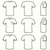 Men's T-Shirt (vector)