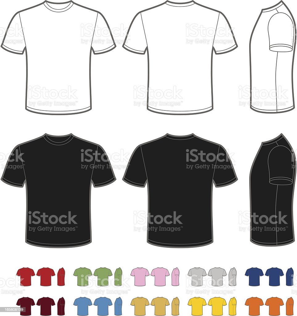 Men's t-shirt royalty-free mens tshirt stock illustration - download image now