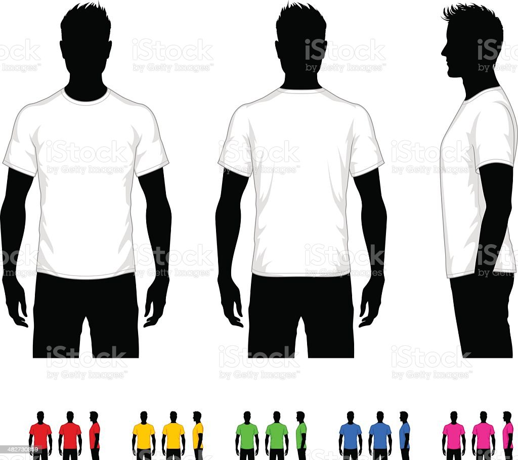 Men's T-Shirt royalty-free mens tshirt stock vector art & more images of adult