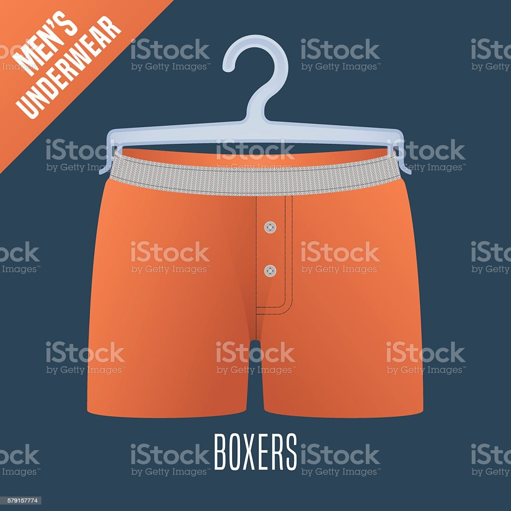 Men's underwear vector illustration vector art illustration