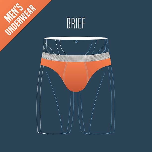 illustrations, cliparts, dessins animés et icônes de men's underwear vector illustration - homme slip