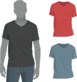 T-shirts that are perfect for a mockup of your artwork. Change the t-shirt to any color you want without needing to make changes to the shadows.