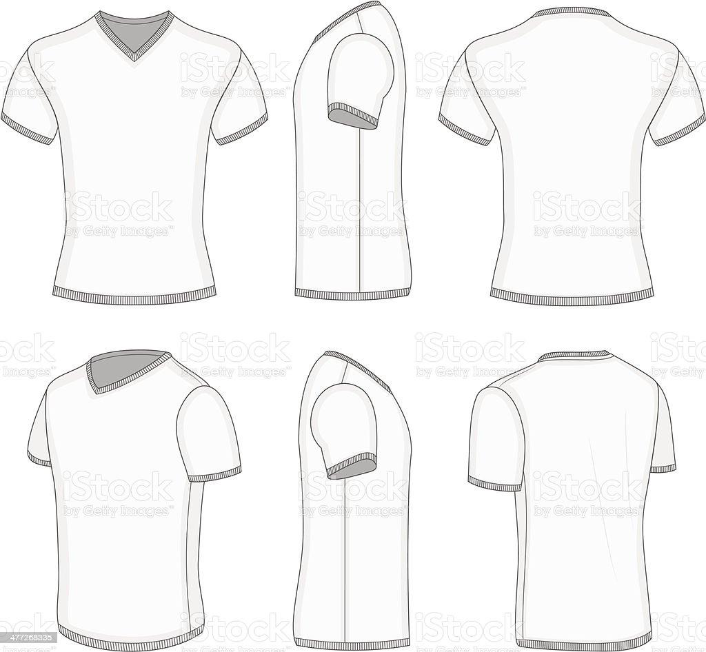 3d1a5fd36 Mens White Short Sleeve Tshirt Vneck Stock Vector Art & More Images ...