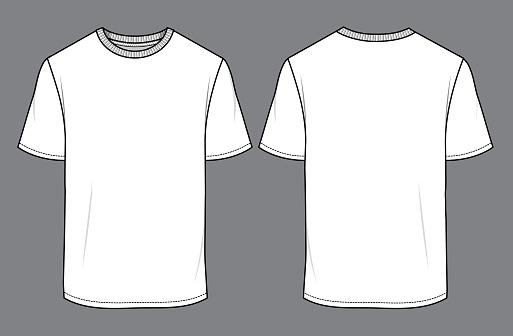 Men's white T-Shirt mock up 01