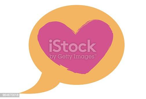 Ícone de mensagem de Amor.