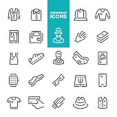 Menswear line icons