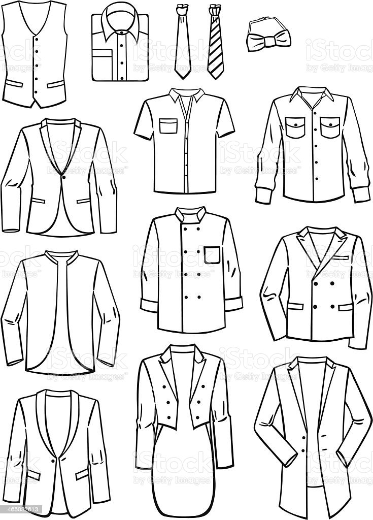 Menswear vector art illustration