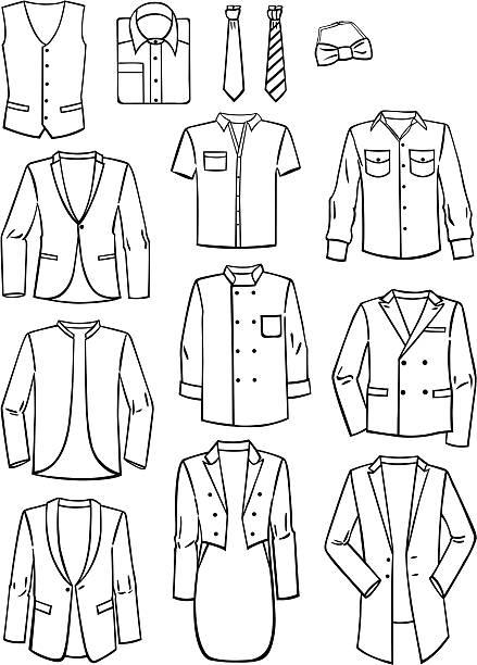 menswear - mens fashion stock illustrations, clip art, cartoons, & icons