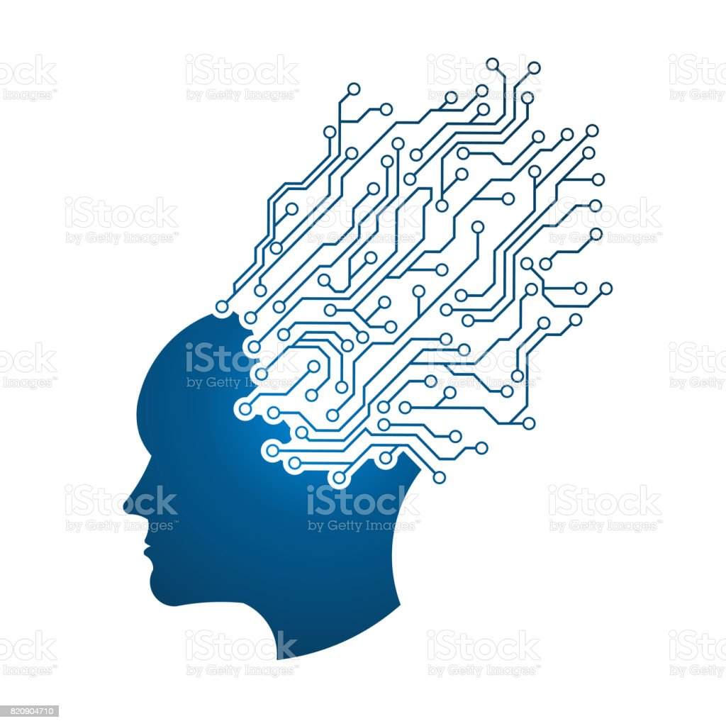Mental Brain Activity vector art illustration