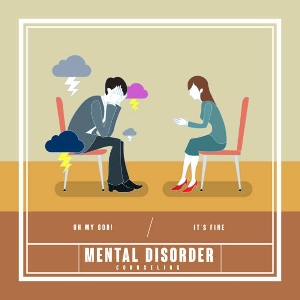 mental disorder counseling concept vector art illustration