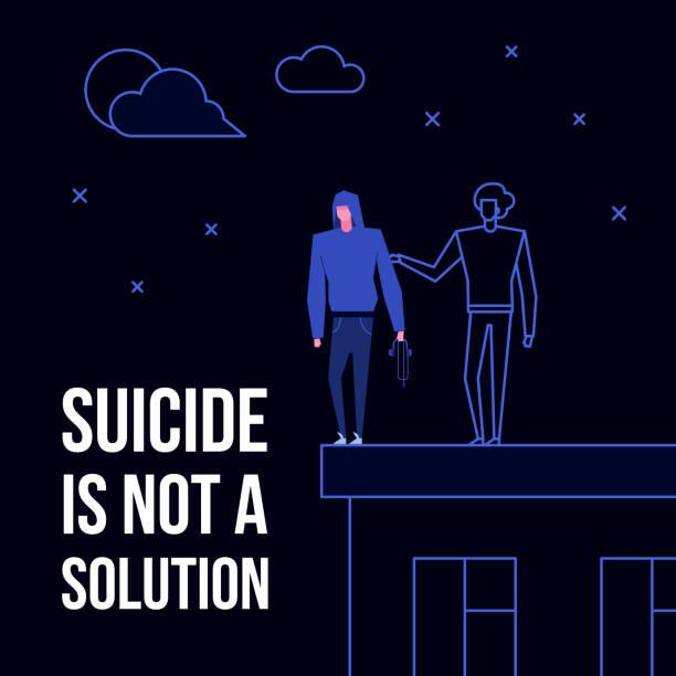 stockillustraties, clipart, cartoons en iconen met psychische stoornis zelfmoord - zelfmoord