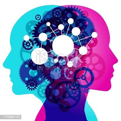 istock Mental Gears - Network Mind 1170901141