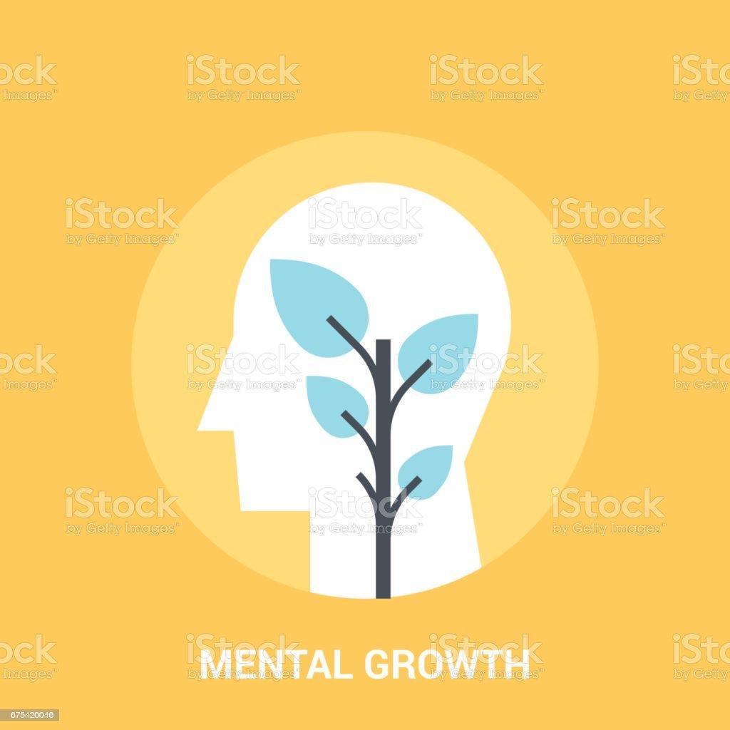 geistige Entwicklung Symbol Konzept – Vektorgrafik