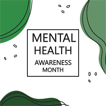 Mental Health Awareness Month banner template