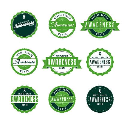 Mental Health Awareness Month Icon Set