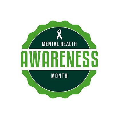 Mental Health Awareness Month Label