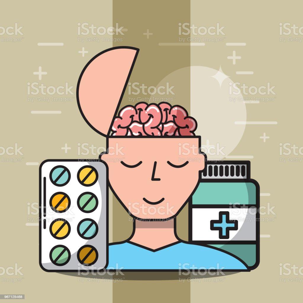 Ilustración de Atención De Salud Mental y más banco de imágenes de ...